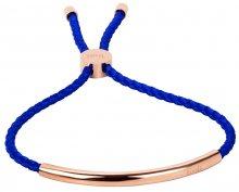 Troli Královsky modrý šňůrkový náramek s růžově pozlacenou ocelovou ozdobou