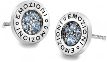 Hot Diamonds Sříbrné náušnice Emozioni Scintilla Blue Peace EE007