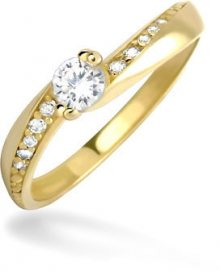 Brilio Dámský prsten s krystaly 229 001 00449 - 1,70 g 53 mm