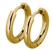 Tribal Pozlacené náušnice kroužky ESS503_10 Gold