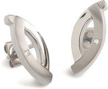 Boccia Titanium Elegantní titanové náušnice s diamanty 0591-03