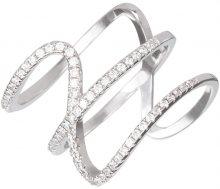 Preciosa Stříbrný prsten s krystaly Fortune 5198 00 57 mm