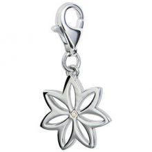Hot Diamonds Přívěsek květina s diamantem Love Luck Happiness DT002