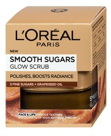 L´Oréal Paris Rozjasňující pleťový peeling s olejem z hroznových semínek (Smooth Sugars Glow Scrub) 50 ml