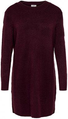 Jacqueline de Yong Dámské šaty Gold L/S Dress Knit Winetasting XS