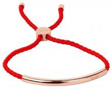 Troli Červený náramek s růžově pozlacenou ozdobou TO2029