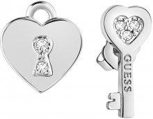Guess Asymetrické náušnice Klíč k srdci UBE83095