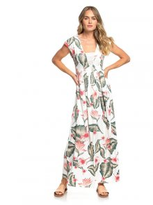 Roxy Dámské šaty A Day At Tribeca MKarshmallow Tropical Love ERJWD03306-WBT7 XS