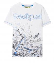 Desigual bílé chlapecké tričko TS Lirio - 5/6