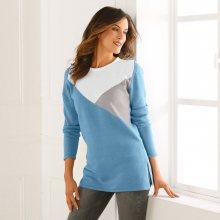 Tunikový pulovr s grafickým vzorem modrá 34/36