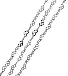 Brilio Silver Stříbrný náhrdelník Srdíčka 42 cm 471 086 00033 04 - 2,41 g