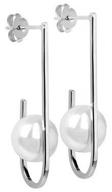 JwL Luxury Pearls Stříbrné náušnice s pravou bílou perlou JL0351