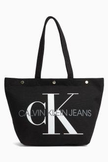 Calvin Klein černá taška Bottom Tote Monogram Black