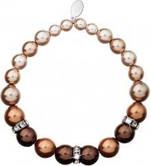 Evolution Group perlový náramek hnědý 33016.3