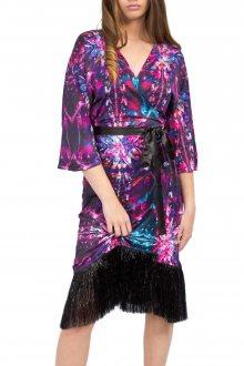 Culito from Spain fialové kimonové šaty Jody Willams - Negro - S