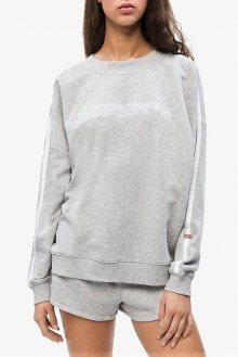 Calvin Klein šedá mikina L/S Sweatshirt s proužkem - XS