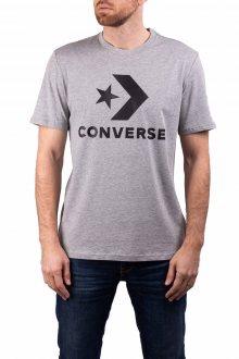 Converse šedé pánské tričko Star Chevron Tee s logem - S