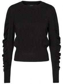 Vero Moda Dámský svetr Drapillo Glory Ls O-neck Blouse Black XS