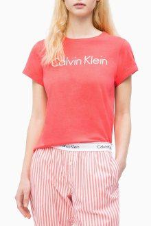 Calvin Klein korálové tričko S/S Crew Neck - XS