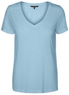 Vero Moda Dámské triko Spicy V-neck Ss Top Color Cool Blue M