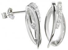 Silver Cat Stříbrné náušnice s krystaly SC162