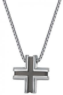 Brosway Pánský ocelový náhrdelník s křížkem District BIT01