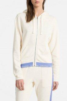Calvin Klein béžová mikina Full Zip Hoodie - XS