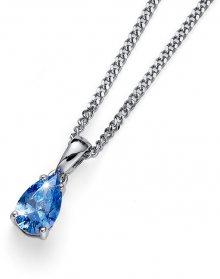 Oliver Weber Stříbrný náhrdelník s krystalem Pear 61148 BLU