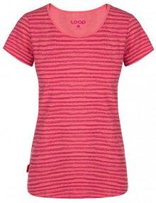 LOAP Dámské triko Aderina Calypso Coral Pink Allover CLW1942-J24JY S