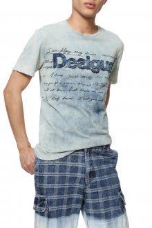 Desigual modré pánské tričko TS Vicente - M