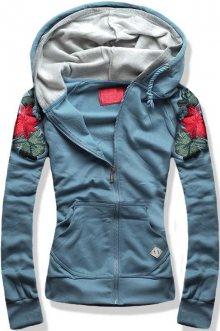 Jeans modrá mikina D400A