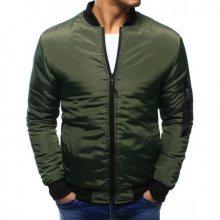 Pánská bunda bomber jacket zelená