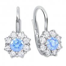 Brilio Silver Stříbrné náušnice s krystaly 436 001 00322 04 - tyrkysové - 2,13 g
