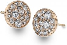 Hot Diamonds Stříbrné náušnice Hot Diamonds Emozioni Scintilla Rose Gold DE457