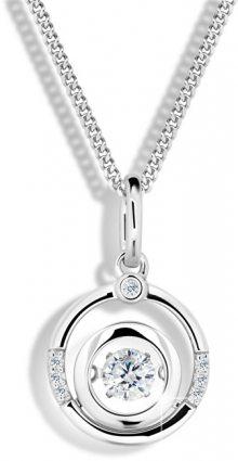Modesi Stříbrný náhrdelník M41093 (řetízek, přívěsek)