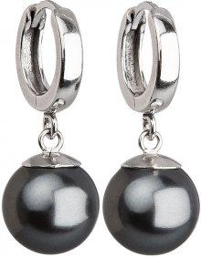 Evolution Group Stříbrné náušnice s perlou 31151.3 šedé