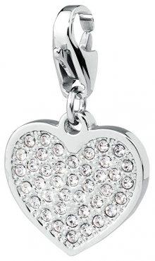 S`Agapõ Přívěsek s krystaly Happy Krystalové srdce SHA28
