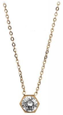 Troli Pozlacený ocelový náhrdelník s hexagonem