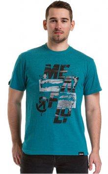 Meatfly Pánské triko Burnout T-shirt B-Jade Green L