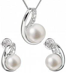 Evolution Group Souprava stříbrných šperků s pravými perlami Pavona 29042.1