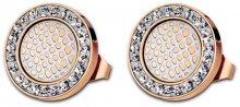 Lotus Style Ocelové náušnice s krystaly LS1778-4/2