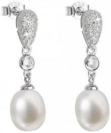 Evolution Group Stříbrné náušnice s pravými perlami Pavona 21040.1