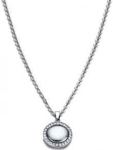 Lotus Style Ocelový náhrdelník s krystaly LS1775-1/1