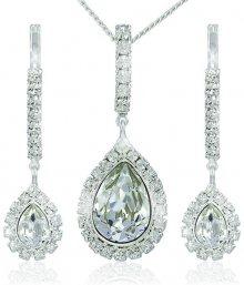 Souprava náušnic a náhrdelníku MHM Avril Crystal 3497