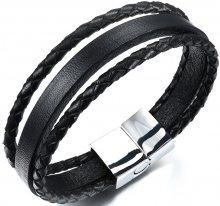 Troli Náramek ze tří kožených pásků Leather