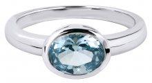 Silver Cat Něžný prsten s modrým krystalem SC261 52 mm