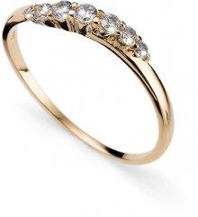 Oliver Weber Pozlacený stříbrný prsten s krystaly Petite 63227G L (56 - 59 mm)