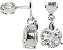 Brilio Silver Stříbrné náušnice s velkým krystalem 436 001 00409 04 - 3,26 g