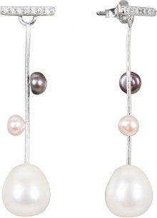 JwL Luxury Pearls Stříbrné náušnice 2v1 s pravými perlami JL0465
