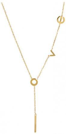 Troli Zamilovaný pozlacený náhrdelník